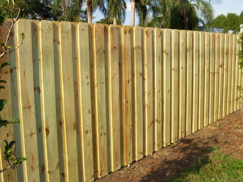 board on board wood fence panels